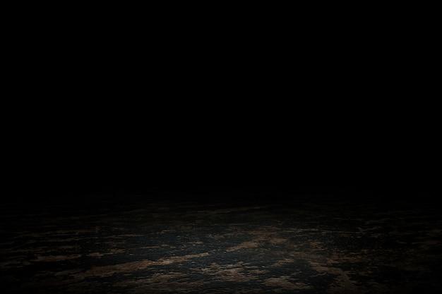 Exposição de produtos em mármore preto. cena de piso vazio para mostrar. renderização em 3d. Foto Premium