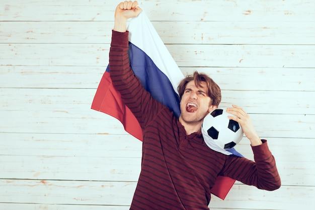 Fã de futebol da rússia Foto Premium