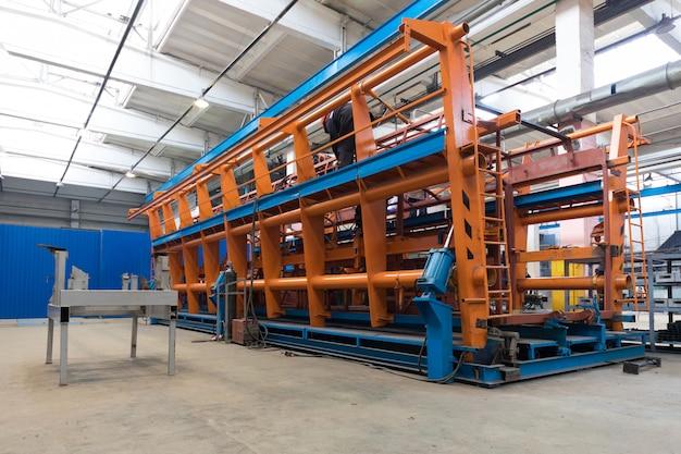 Fabrico de produção de autocarros Foto Premium
