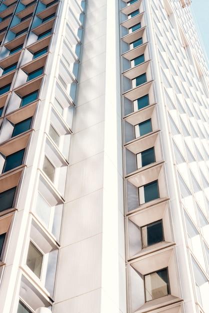 Fachada, de, highrise, residencial, predios Foto gratuita