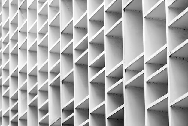 Fachada ventilada close up do edifício concreto. Foto Premium