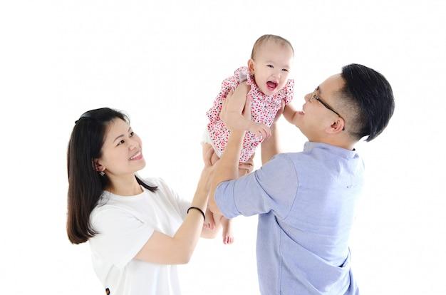 Família asiática Foto Premium