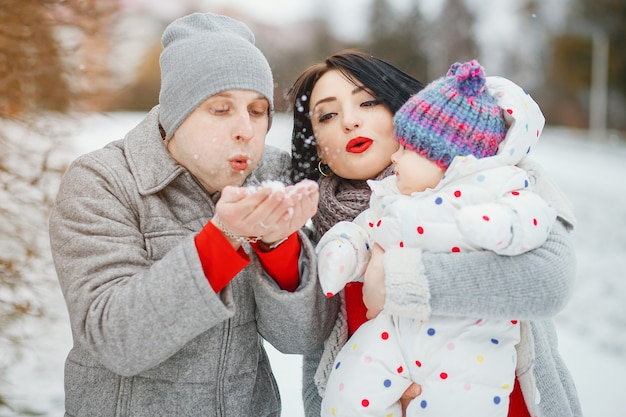 Família de inverno Foto gratuita