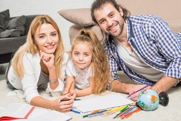 Família, quadro, chão Foto gratuita