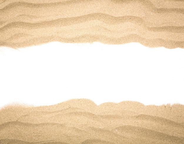 Fantástica moldura feita com areia Foto gratuita