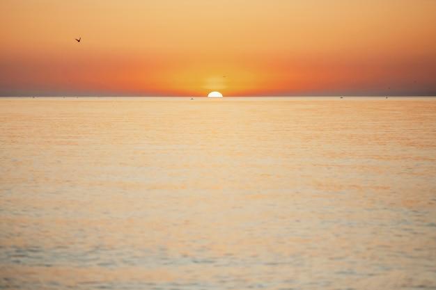 Fantástico pôr do sol no mar Foto gratuita