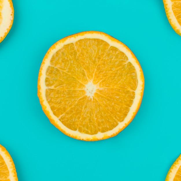 Fatia de laranja fresca Foto gratuita