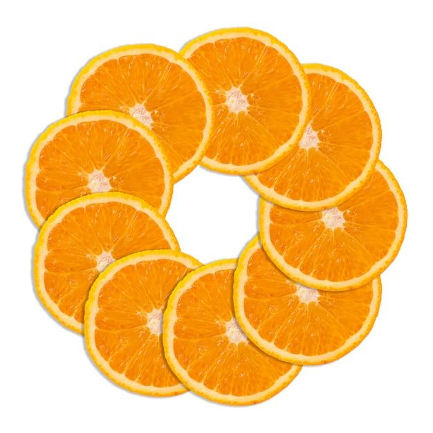 Fatias de fruta laranja Foto Premium