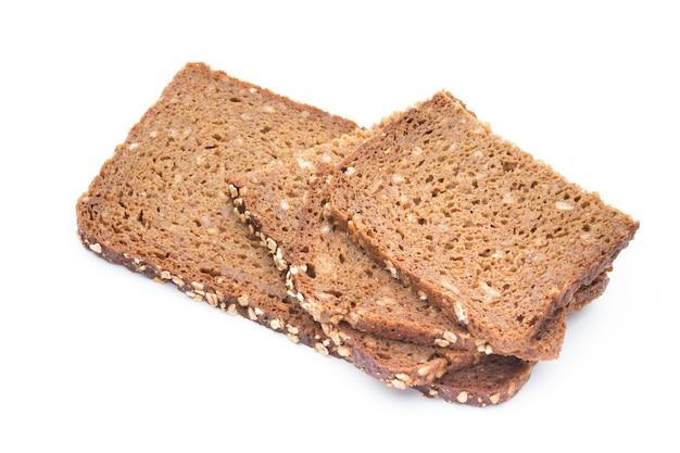 Fatias de pão de centeio isoladas Foto Premium