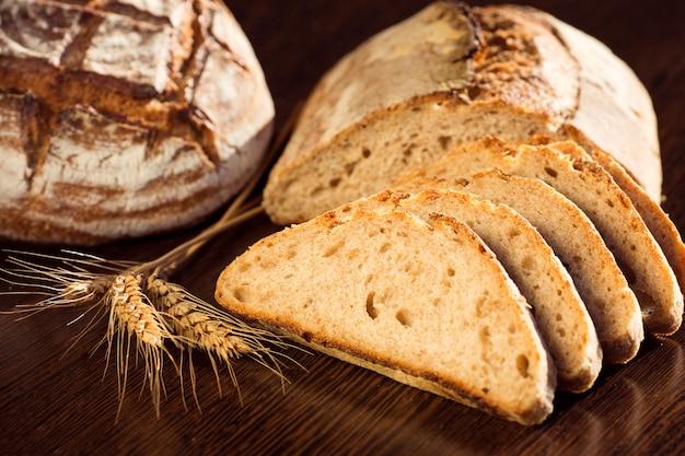 Fatias de pão deliciosos Foto gratuita