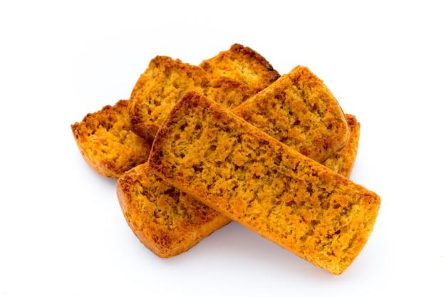 Fatias de pão torrado. Foto Premium