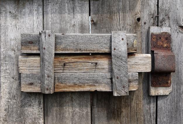 Fechadura da porta primitiva autêntica Foto Premium