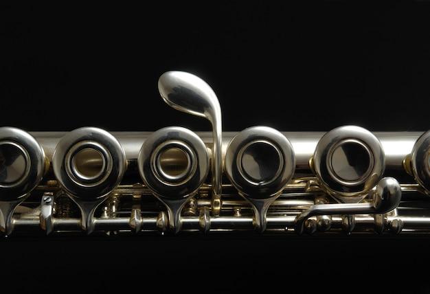 Fechar detalhes de clarinete Foto Premium