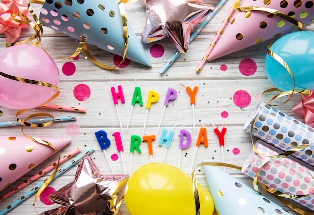 Feliz aniversário, fundo Foto Premium