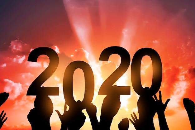 Feliz ano novo 2020 Foto Premium