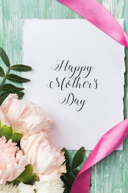 Feliz dia das mães cartão close-up Foto gratuita