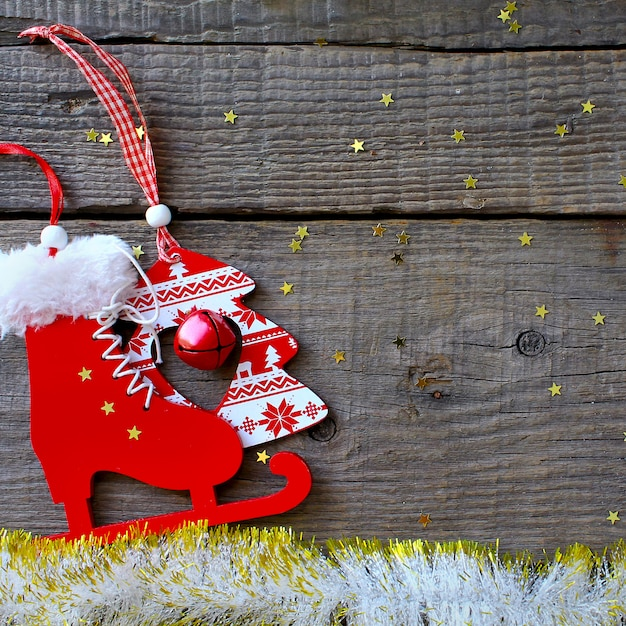 Feliz, magia, feriado, feliz natal, ano novo, rústico Foto Premium