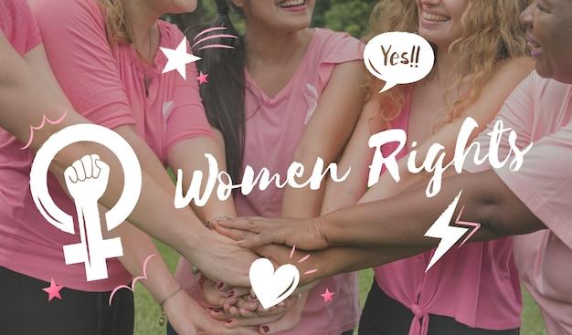 Feminismo igualdade confiança mulheres direito Foto gratuita
