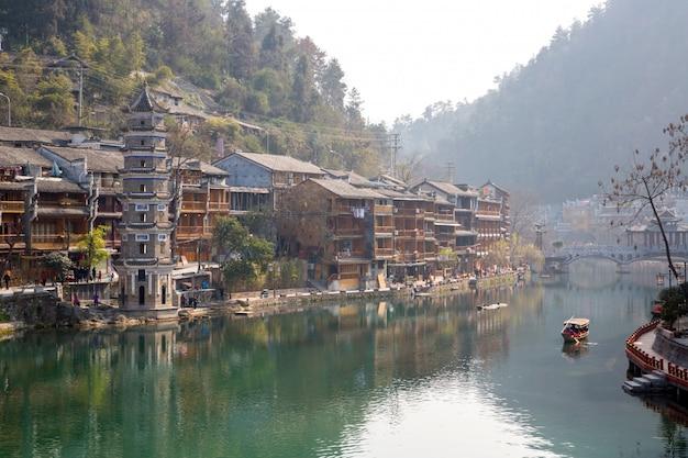 Fenghuang cidade antiga china Foto Premium