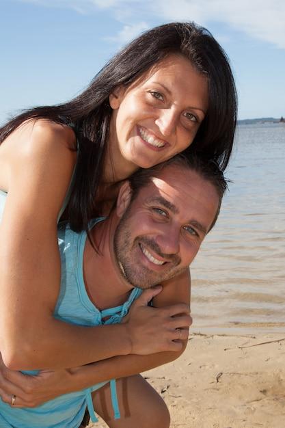 Férias na praia Foto Premium