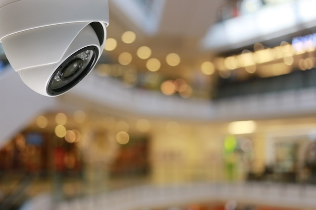 Ferramenta de cftv em shopping equipamentos para sistemas de segurança. Foto Premium