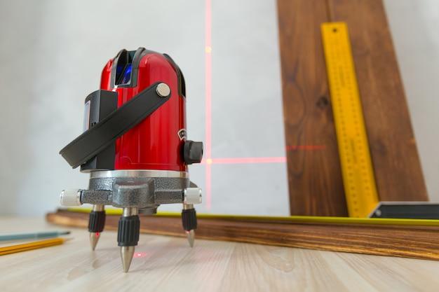 Ferramenta de medição de nível laser Foto Premium