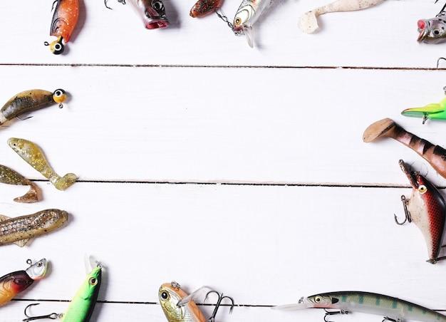 Ferramentas de pesca Foto gratuita