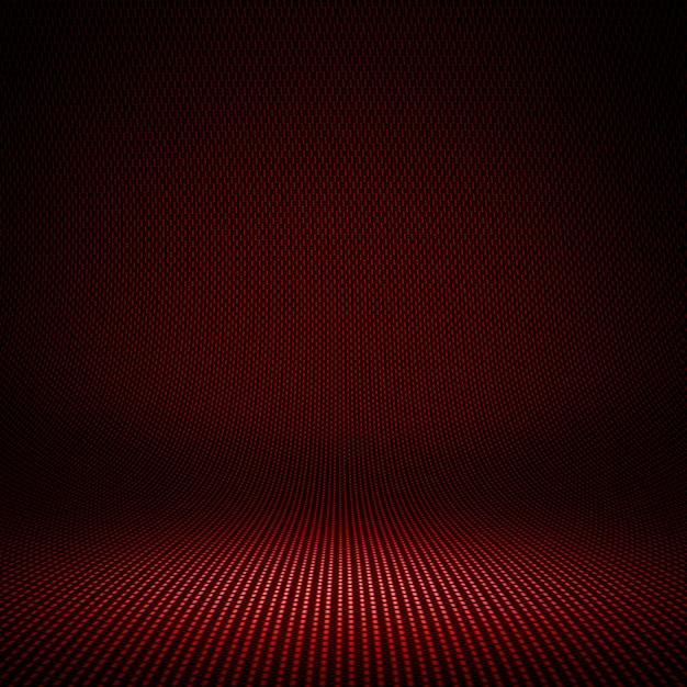 Fibra de carbono vermelho moderno texturizado interior studio com luz para o fundo Foto Premium