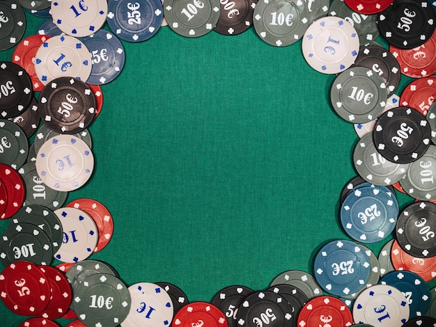 Fichas para jogos de apostas e pôquer e jogos de azar Foto Premium