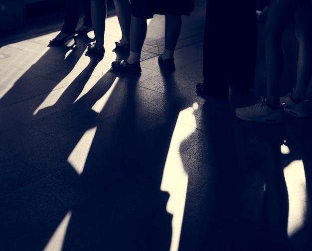 Fila de filas de linha em espera grupo de filas em espera Foto gratuita