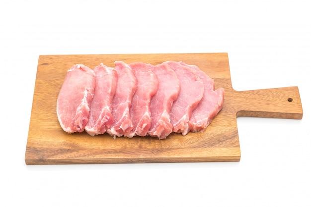 Filé cru de carne de porco fresca Foto Premium