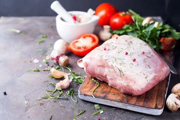 Filé de porco fresco Foto Premium