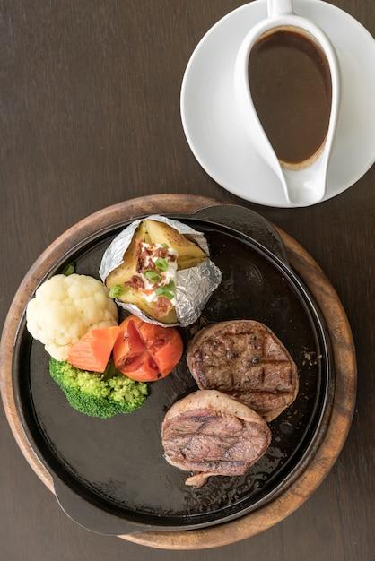 Filet mignon steak Foto Premium