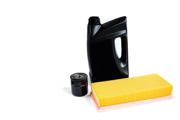 Filtro de óleo do carro isolado no branco Foto Premium