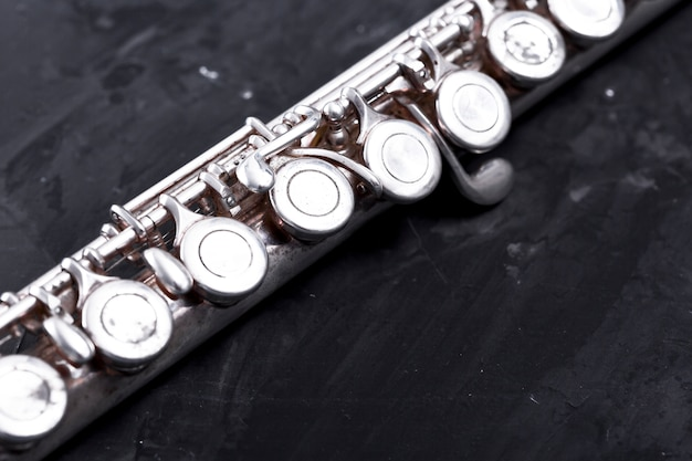 Fim, cima, de, metal, flauta Foto gratuita