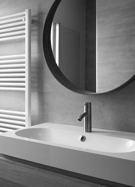 Fim, cima, modernos, banheiro, interior Foto Premium