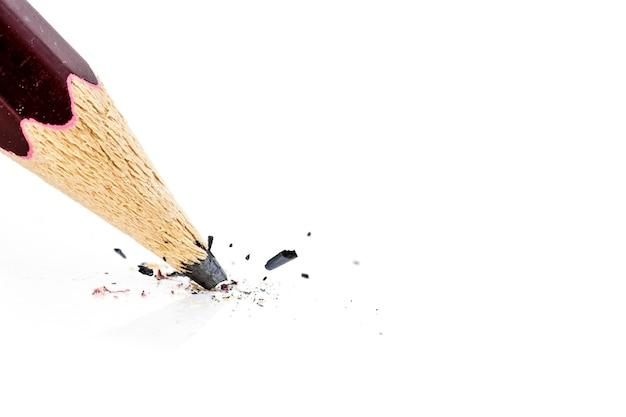 Fim, cima, quebrada, lápis Foto Premium