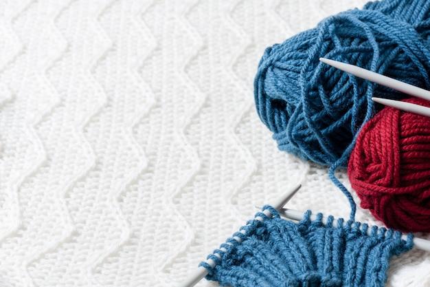 Fios para tricô de lã Foto Premium