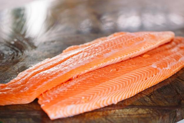 Fish salmon Foto Premium