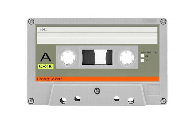 Fita cassete compacta velha isolada Foto Premium