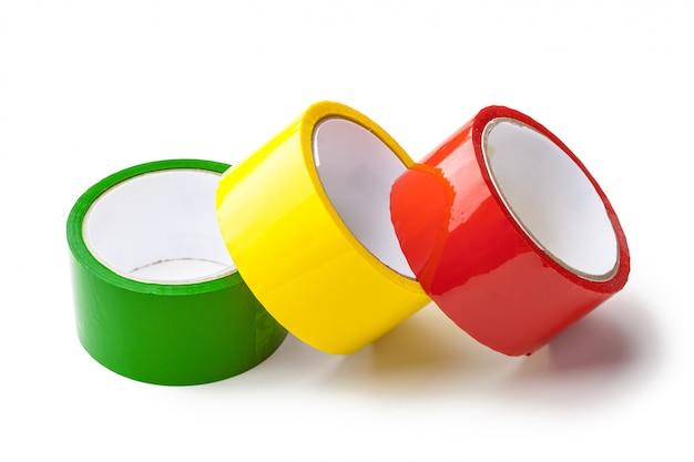 Fita colorida em rolos grandes Foto Premium