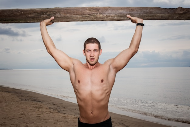 Fitness na praia Foto gratuita