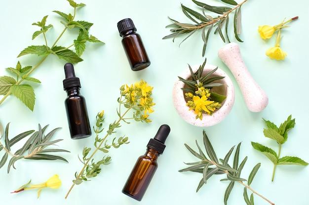Fitoterapia, cosméticos naturais, fitoterapia. Foto Premium