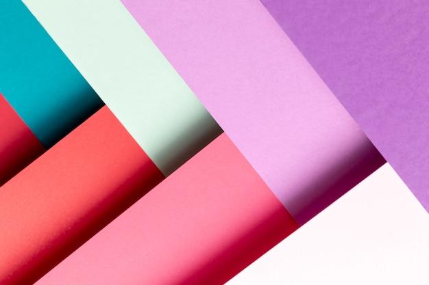 Flat lay padrão com cores diferentes Foto gratuita