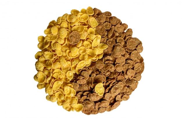 Flocos de milho e trigo mourisco yin yang Foto Premium