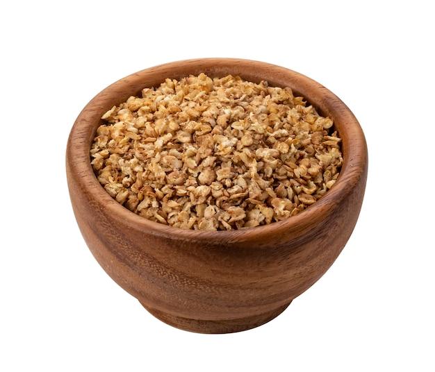 Flocos de trigo mourisco isolados Foto Premium