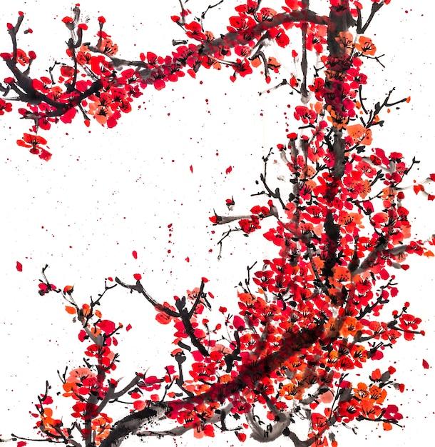 Flor botânica paisagem chinesa natureza festival Foto gratuita