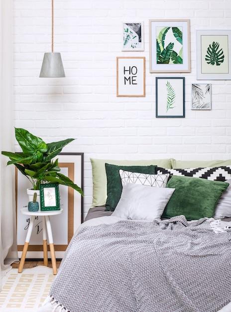 Flor interior do candelabro da pintura do estilo da casa do interior Foto Premium