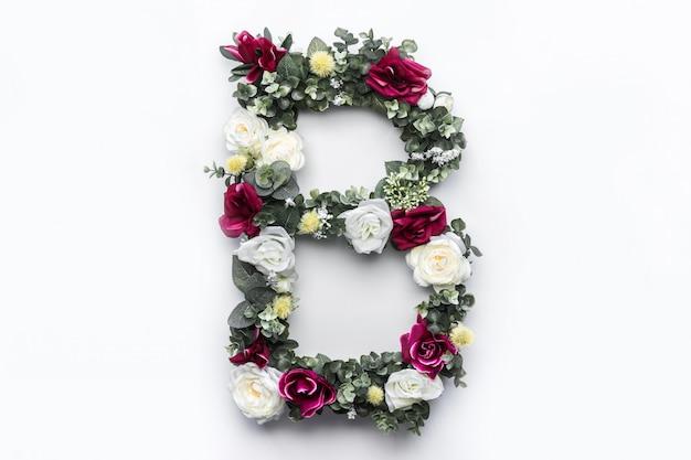 Flor letra b monograma floral foto gratuita Foto gratuita