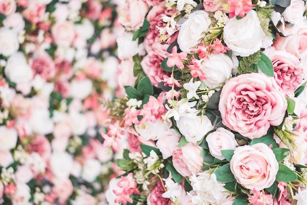 Flor lindo buquê com espaço de cópia para o fundo Foto Premium